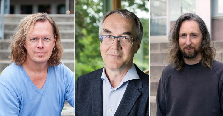 Gunnar Andersson, Bo Malmberg, Ben Wilson. Photo: Eva Dalin/Stockholms universitet, Clément Morin/Stockholms universitet, Leila Zoubir/Stockholms universitet.